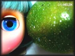 Verdes e azulados...