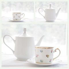 High Key Tea (what_marty_sees) Tags: white triptych bright teapot highkey teacup justplayingaround manualexposure