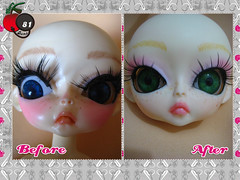 Custom Hujoo Before After (Cherry Bomb 81) Tags: new pink cute green eye girl nova japan cherry toy eyes doll brinquedo acrylic open eyelashes makeup rosa olhos maquiagem before lips collection korean changing kawaii change after garota olho japo freckles collectible boneca custom bomb menina depois antes verdes 81 mudando lbios acrilico coleo cilios maquilagem aberto sardas customizada customizao postios colecionvel hujoo