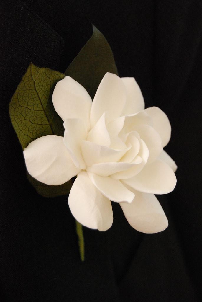 Gardenia Clay Flower Boutonniere