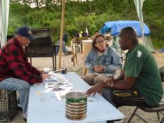conversation about photos (pamelakliment) Tags: selfportrait homeless kliment tentcities nickelsville nickelsvilleseattle nickelsvillebymichele pamelakliment michelemarchand