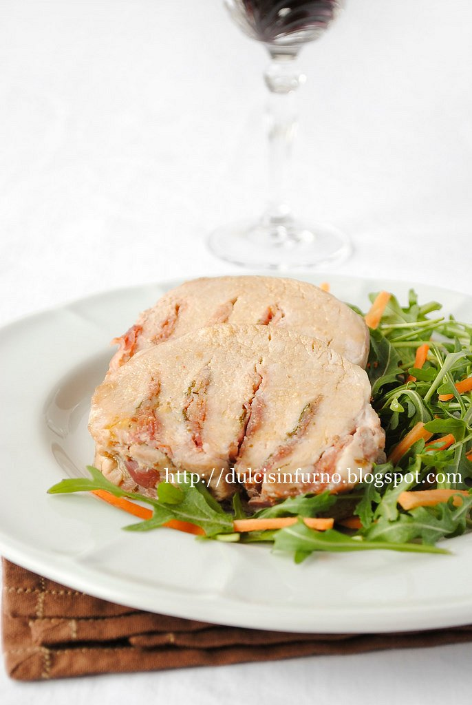 Arista Farcita con Pancetta-Bacon Stuffed Pork Loin