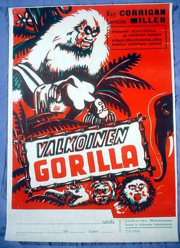 WHITE GORILLA (1945) Finnish poster