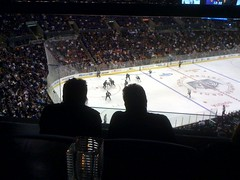 The view from the Hyde Lounge at the Staples Center #LAkings