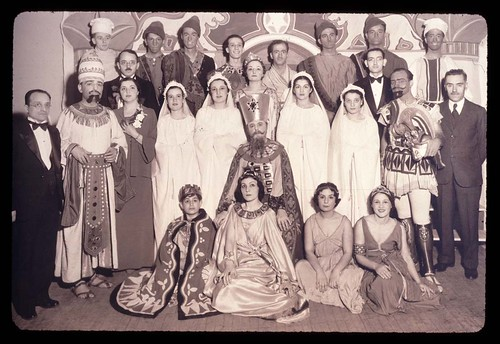 Cast of Purim play. New York City, 1936