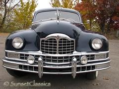 Staring Down a 1949 Packard Custom 8 (Sunset Classics) Tags: auto blue classic car forsale president grille luxury rare limousine 1949 packard harrytruman autoglamma custom8 customeight