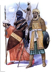 Muslim warriors (cool-art) Tags: spears african muslim iraq ghana empire syria warriors sultan wars dynasty cavalry crusaders shields saladin ayyubid hattin