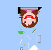 L'equilibrio è un miracolo (addicted to cotton fioc) Tags: euro bamboo cielo sorriso caffè matita libertà sigaretta equilibrio elastico cottonfioc atestaingiù