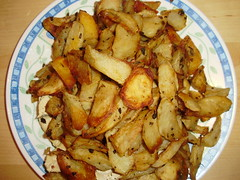 Rosemary Chicken with spicy potato