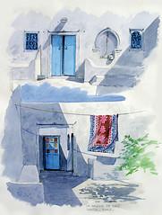 djerba2 (Aquarl) Tags: djerba majorelle souk porte tunisie mosquée artisanat chameaux jarres artisant aquarellesorientalistes