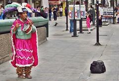 Rosa Musical... (Just Like Heaven') Tags: city pink people colors mexico gente days monterrey msico indgena flauta instrumentosmusicales vidadiaria danzamixteca