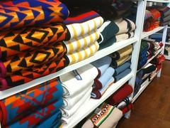 Wool blankets made at Washougal Pendleton Woolen Mills