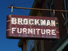 OH Fort Recovery - Brockman Furniture (scottamus) Tags: old ohio sign vintage neon furniture mercercounty brockman fortrecovery