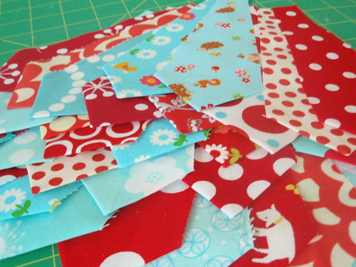 Piles of Red and Aqua Goodness