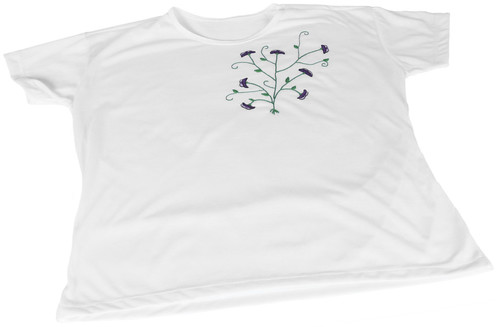 Camiseta Bordada com Ramalhete by PARANOARTE