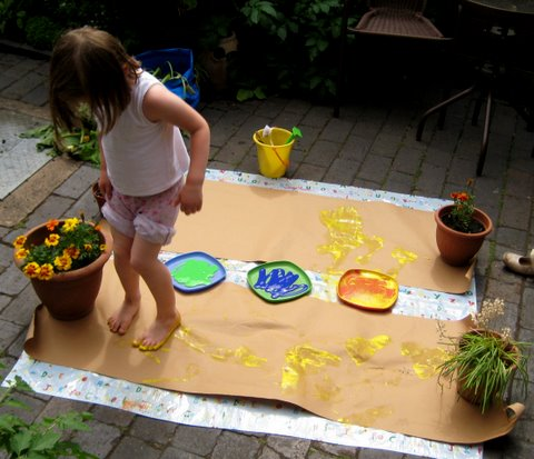 footprint art ideas
