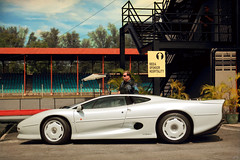 Pearl Essence (anType) Tags: uk sports car asia unitedkingdom britain exotic malaysia jag british jaguar luxury coupe supercar johor sportscar v6 xj220 pasirgudang pearlwhite hypercar worldcars