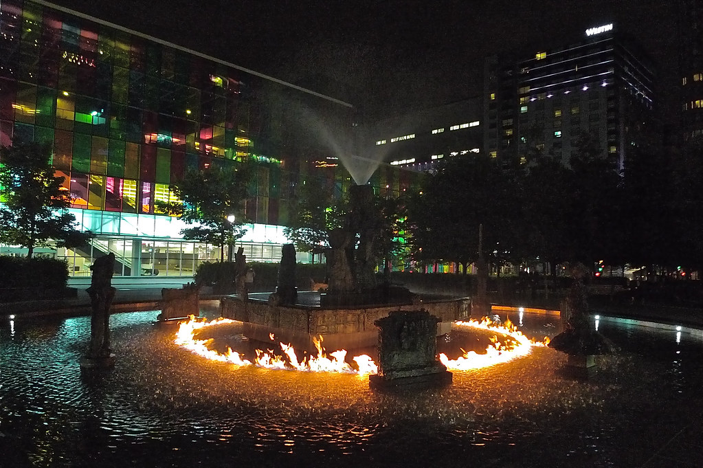 Copyright Photo: Place Jean-Paul-Riopelle: Montreal Fountain La Joute Stage 3 by Montreal Photo Daily, on Flickr