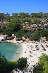 Cala Pi (DOS82) Tags: sea summer people beach water island spain colorful mediterranean espana bikini mallorca spanien majorca baleares balearicislands balearic calapi malle inselwelt malloze