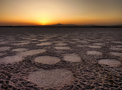 Planet Earth (ssj_george) Tags: leica sunset sky orange sun mountain lake detail texture nature water yellow landscape lumix mud circles horizon salt cyprus line panasonic saltlake round land hdr highdynamicrange larnaca stavrovouni photographyblog  georgestavrinos    fz38  fz35 ssjgeorge  sonyphotochallenge