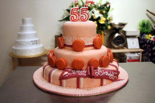 Macaron Fondant Cake