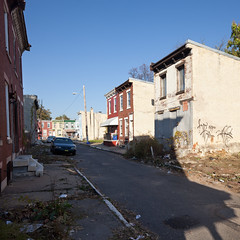 Strawberry Mansion (metroblossom) Tags: street philadelphia square graffiti neighborhood residential derelict dereliction rowhouse strawberrymansion img17235