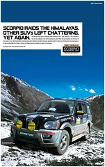 Scorpio Raids The Himalayas. (MahindraScorpio) Tags: auto india snow car driving offroad muscular rally scorpio adventure himalaya suv mighty offroading mahindra raiddehimalaya