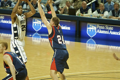 Jeff Brooks, top of the key (acaben) Tags: basketball pennstate nittanylions jeffbrooks brycejordancenter ncaabasketball psubasketball pennstatebasketball