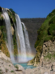 Rainbow waterfall (Pingolito) Tags: nature water san luis potos huasteca tamul potosina
