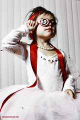 Candy (Candy Colored) Tags: girl toddler candy redribbon stripes pearls regal princessdress
