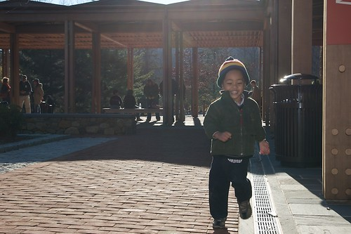 Benjamin Runs to Daddy at Monticello