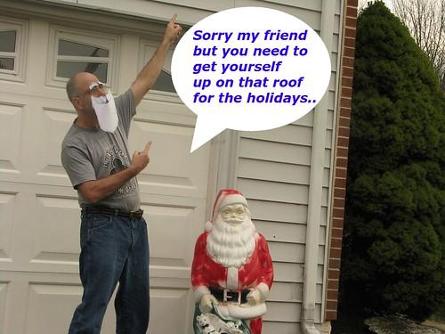santa get on roof