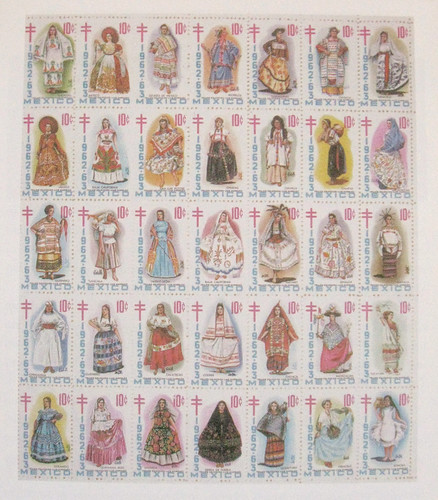Mexican Women Stamps by Teyacapan