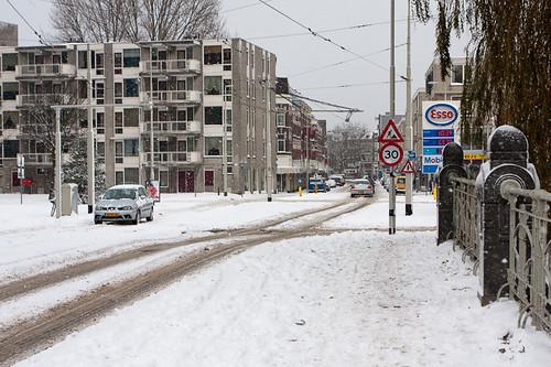 Snowfall in Rotterdam