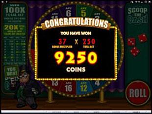 free Scoop the Cash bonus feature