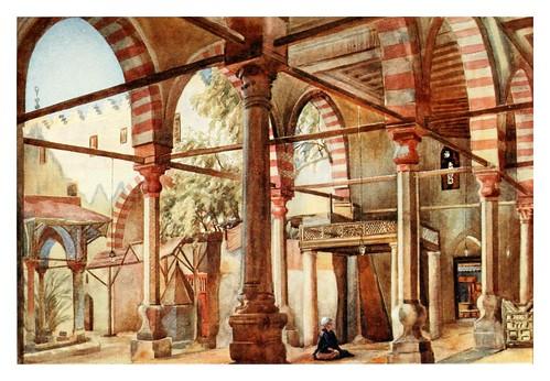 019-Interior de la mezquita de Shakhoun en el Cairo-Cairo, Jerusalem, and Damascus..1907- Margoliouth D. S.