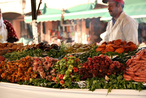 Food stall at Djemaa El Fna, Marrakech (Photo by Jennifer Laceda)