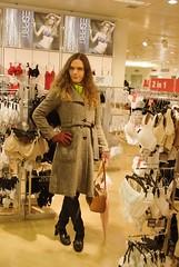 Farah in der Wäscheabteilung