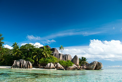 [フリー画像] [自然風景] [海の風景] [ビーチ/海辺] [空の風景] [セーシェル共和国風景] [ラ・ディーグ島]     [フリー素材]