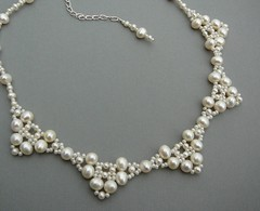 Bridal Necklace - Freshwater Pearl Victorian Lace Scalloped Collar Necklace (Bead Addiction Jewelry) Tags: wedding white classic silver necklace handmade lace victorian cream ivory jewelry romance bridal offwhite dangle beaded timeless beadwork scalloped handwoven sterlingsilver freshwaterpearls silversnow lobsterclasp snowprincess winterwedding simplyelegant carsoncitynevada artisancrafted carsoncitynv glassseedbeads beadwoven winterbride extenderchain potatopearls paleivory chokerlength junebirthstone beadaddiction beadaddictionjewelry beadaddictionjewelryonetsy collarlength