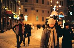 Топчут снег глубокой (mariapiessis) Tags: color film stpetersburg russia olympus om2 sanktpeterburg