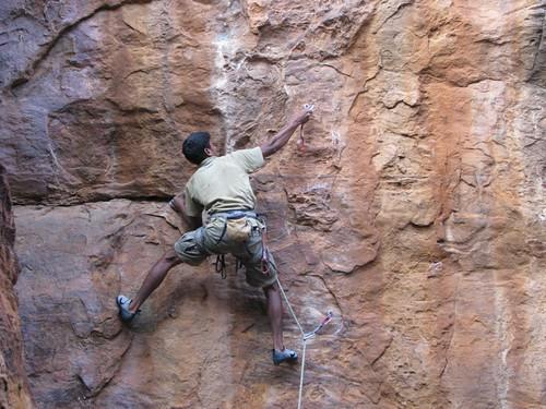 Badami Rock Climbing 6a