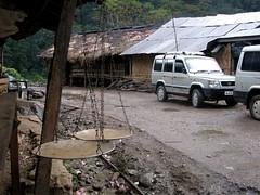 driving back under Arunachal rain (Linda DV) Tags: travel portrait india rain canon geotagged 2008 sevensisters arunachal 7sisters arunachalpradesh northeastindia daporijo powershots5is lindadevolder