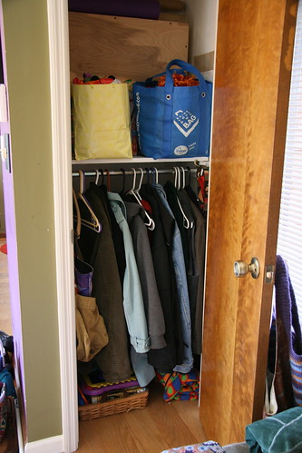 Rachel's front closet- finished