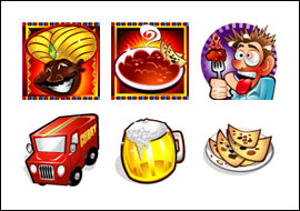 free Curry in a Hurry slot game symbols