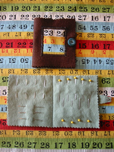 wool felt needlebook