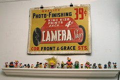 Vintage photo-finishing sign (fotoflow / Oscar Arriola) Tags: new york city nyc signs elephant art vintage subway toy mouse toys photography graffiti doll photographer martha photos kodak vinyl going books mickey collection cameras snoopy cooper labels prints troll characters hiphop postal promotional figures babar brownies journalist photojournalist marthacooper
