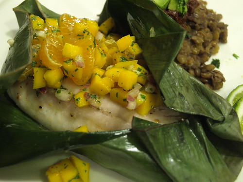 rockfish with mango and clementine relish