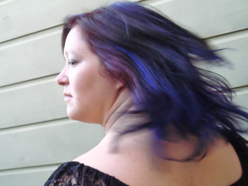 hair with purple underneath. Blue Hair with Purple