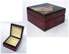 "Jewelry box ""Girl with kitten"""